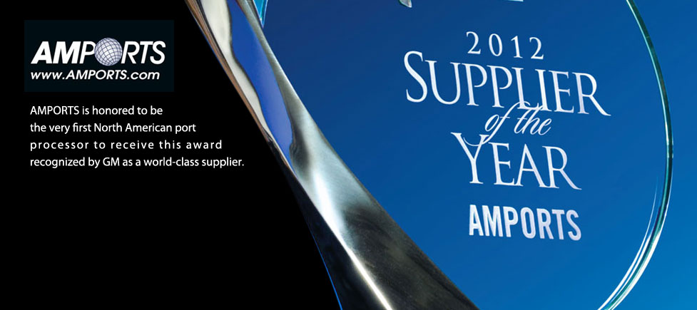 Amports 2012 Supplier of the Year recognized by General Motors